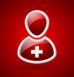 Glossy doctor or nurse icon vector