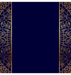 Gold ornate border vector