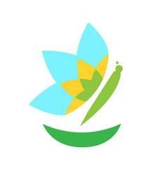 isolated butterfly icon vector image