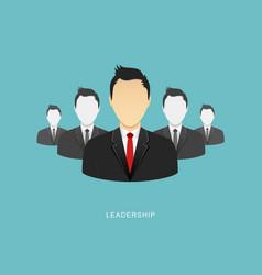 Leadership flat design vector