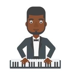 Man playing piano vector image