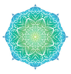 Mandala with a gradient background for your vector
