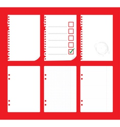 notepad paper vector image vector image