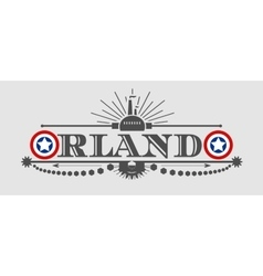 Orlando city name with flag colors styled letter O vector image vector image