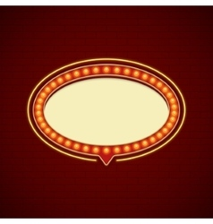 Retro showtime sign design cinema signage light vector