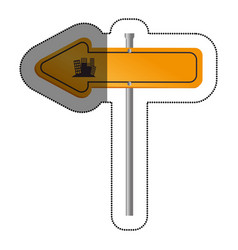 road traffic signal with arrow vector image