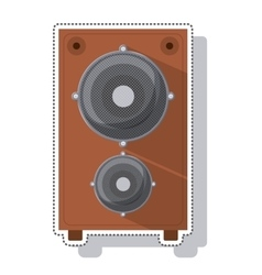 speaker sound isolated icon vector image vector image