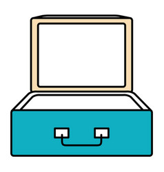 Suitcase travel open isolated icon vector
