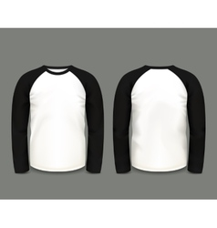 Black raglan sweatshirt long sleeve vector