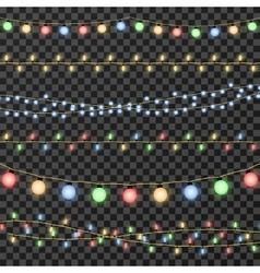 Christmas garland lights isolated on vector