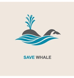 Abstract whale icon vector