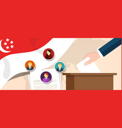 Singapore democracy political process selecting vector