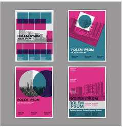 Layout design set 4 template abstract background vector