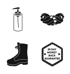 Liquid soap palms and other web icon in black vector
