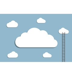 Ladder to cloud vector