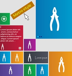 Pliers icon sign buttons modern interface website vector