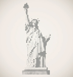United states or statue of liberty vector
