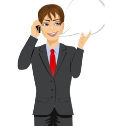 Businessman having conversation vector
