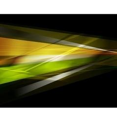 Concept colorful stripes dark background vector image