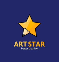 Art star abstract sign emblem or logo vector