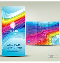 Brochure 3d line colorful vector