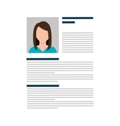 Business curriculum vitae or cv vector