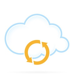 Cloud Computing Icon Conversion vector image