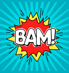 comic speach bubble effect bam vector image