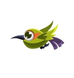 Cute green colibri vector