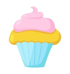 Fast food cupcake icon vector