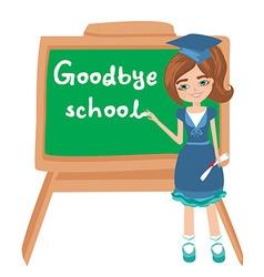 Goodbye school vector