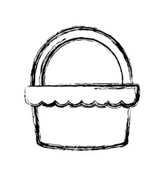 Grocery basket isolated vector