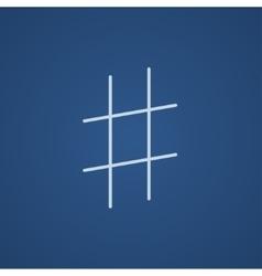 Hashtag symbol line icon vector image