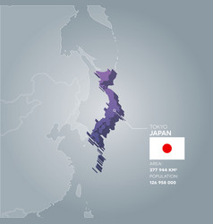 japan information map vector image