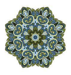 Mandala pattern zentangl doodle drawing round vector