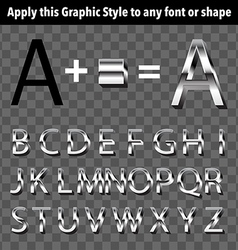 Metal graphic style vector