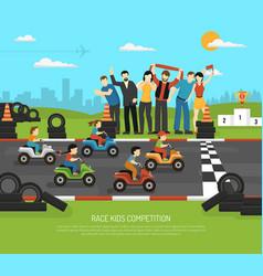 motor racing kids background vector image