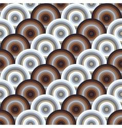 Seamless pattern of semi circles vector
