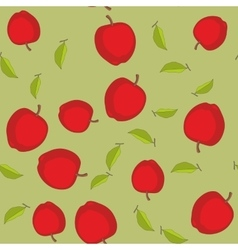 Seamless pattern with cartoon apples Fruits vector image