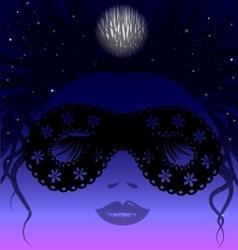sleepy night vector image vector image