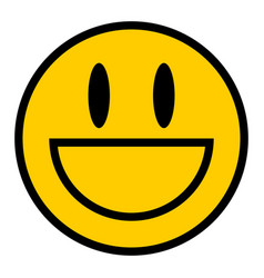 smiley icon smiling face flat style vector image vector image