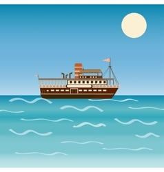 Water transport travel ship across sea river vector image