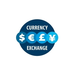 logo currency exchange vector image