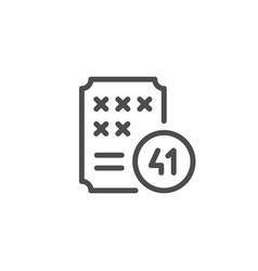 Lottery line icon vector