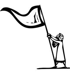 Flag Girl vector image
