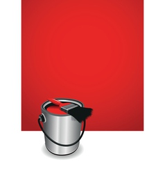 Red paint pot background vector