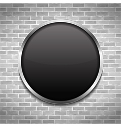 Black Round Board vector image