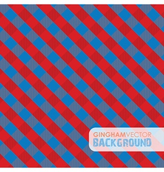 Gingham red and blue vector
