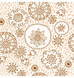 Floral pattern seamless background with flowers vector