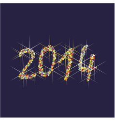 2014 new year fireworks vector